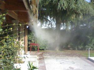 Raffrescamento con nebulizzazione